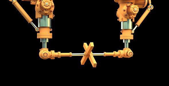 Robotti mekanismi in Motion - 3D, Object Elements Motion Graphics