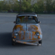 Fiat 500 Nuova 1957 with interior rusty HDRI
