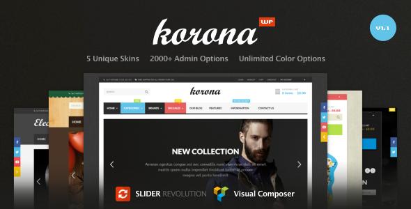 Korona- Multi-Purpose Responsive WooCommerce Theme