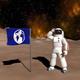 Astronaut & the space scene