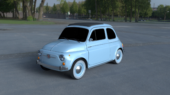 Fiat 500 Nuova 1957 HDRI 3D Model - 3DOcean Item for Sale