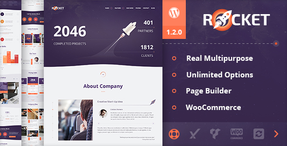 19 - Rocket - Creative Multipurpose WordPress Theme