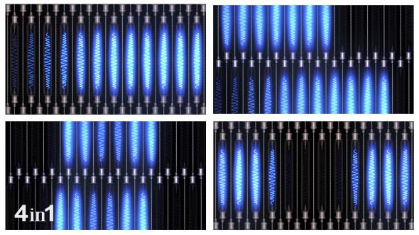 Blue valot vilkkuvat (4-Pack) - Light Taustat Motion Graphics
