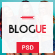 Blogue - Personal Blog PSD Template
