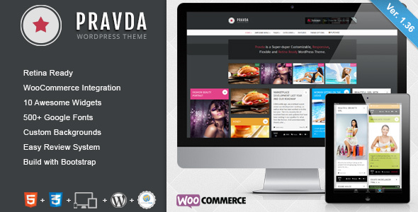 Download Pravda - Retina Responsive WordPress Blog Theme nulled download