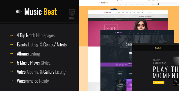 MusicBeat Musicians & DJ's Music Band Html Template