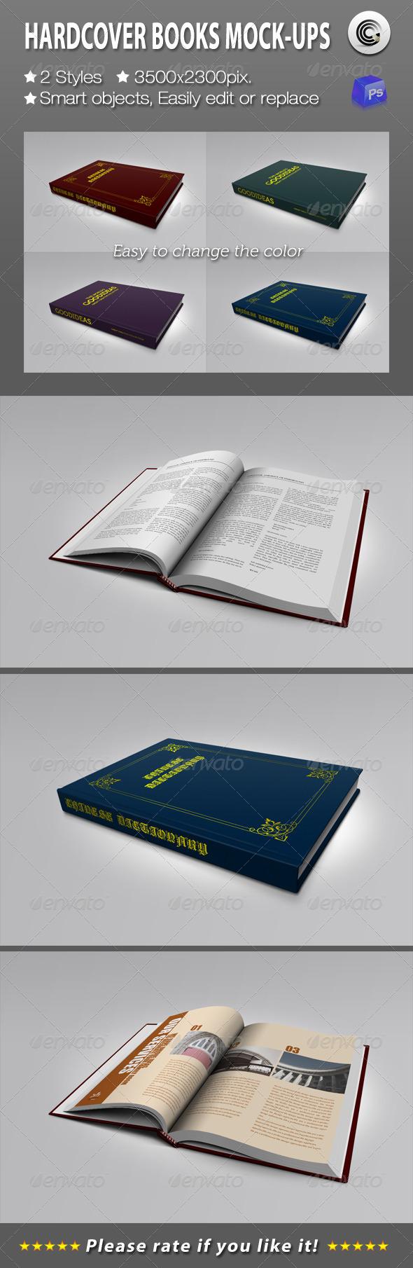 Hardcover Books Mock-ups