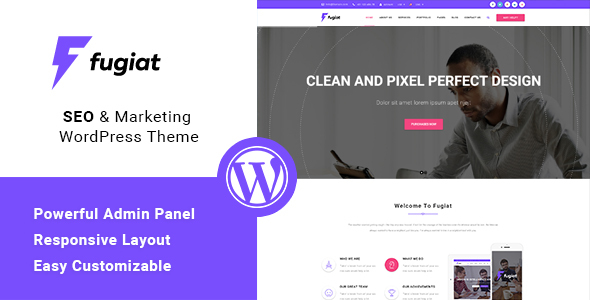 Download Fugiat - Material Design WordPress Theme nulled download