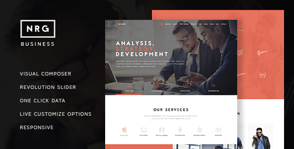 Download NRG Business - Powerful One Page Biz Theme nulled download