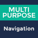 Multipurpose Navigation Menu Bar PSD