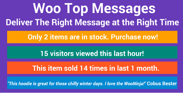 WooCommerce Top Push Messages - CodeCanyon Item for Sale