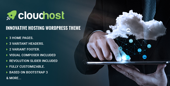 CloudHost - Responsive Hosting WordPress Theme