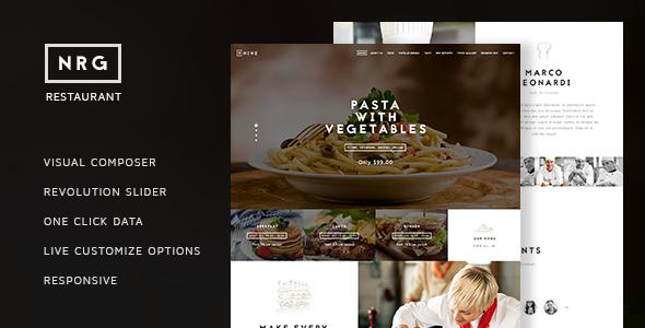 Download NRG Restaurant - Restauranteur & Catering Theme nulled download