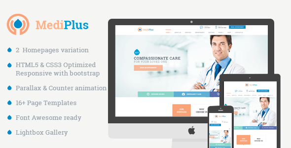 MediPlus - Responsive Template for Medical and Health