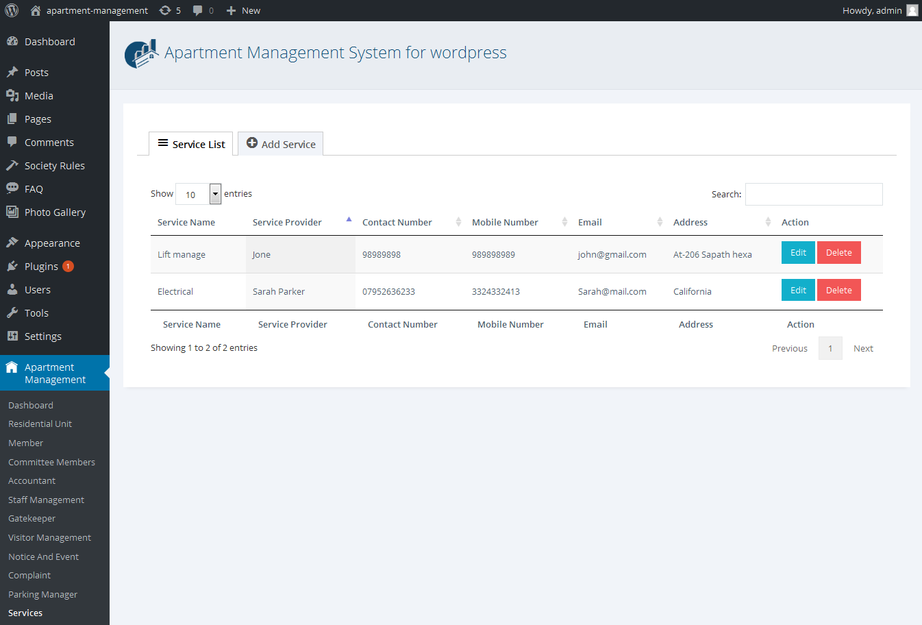 WPAMS - Apartment Management System for wordpress by ...