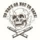 E-Cigarette Logo Template with Skull