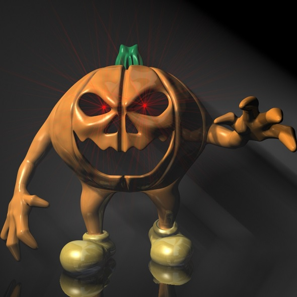 Halloween Pumpkin Character RIGGED - 3DOcean Item for Sale