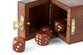Opened box with wooden dice - PhotoDune Item for Sale