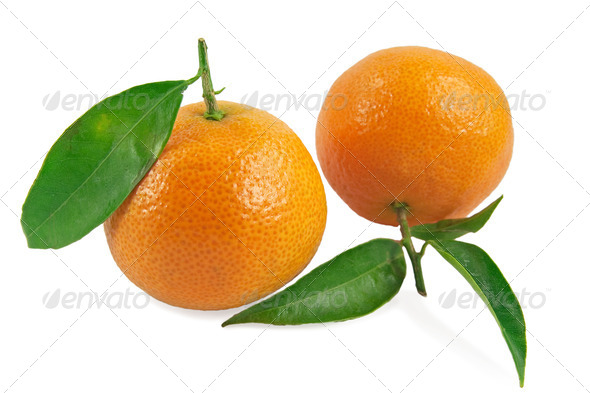 Two tangerines - Stock Photo - Images