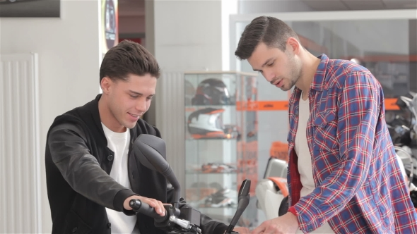 Download Customer Sitting On Motorbike nulled download