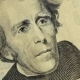 Cash Money Background. Andrew Jackson Portrait On 20 US Dollar Bill  Rotation
