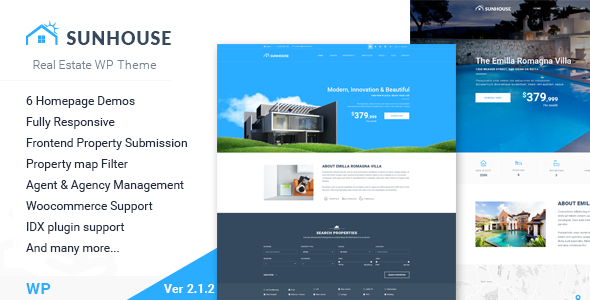 11 - SunHouse - Multiconcept Real Estate WordPress Theme