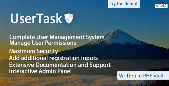 Download UserTask – An Advanced User Management System nulled download