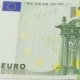 Photo Of a Part Of a Hundred Euro Note.  Shot