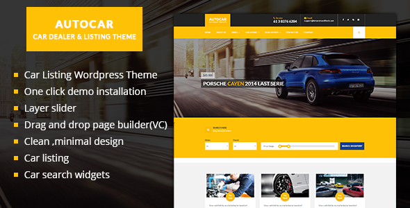 29 - Car Dealer WordPress Theme  - Auto Car