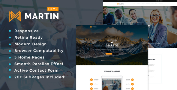 Martin - Multipurpose Responsive HTML5 Template