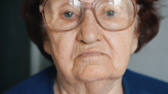 Download  Portrait Of An Old Woman Putting On Glasses nulled download