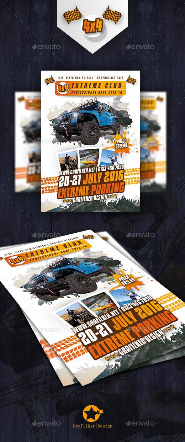 Extreme Sport Flyer Templates