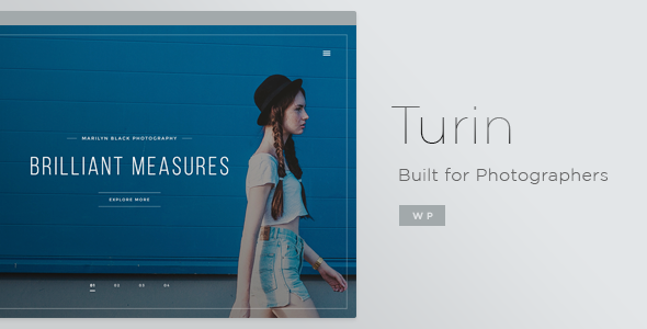 13 - Turin - Aesthetic Photography WordPress Theme