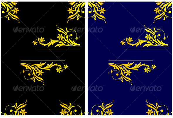 Colorful backgrounds for design cards and banners - Flourishes / Swirls Decorative