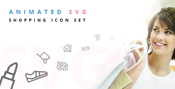 Animated SVG Shopping Icon Set - CodeCanyon Item for Sale