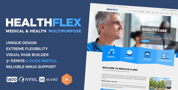 12 - HEALTHFLEX Medical Health WordPress Theme
