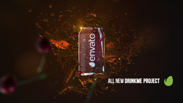 Drink Me Promo - Ruoka ja juoma Pakkaustuotealue Promo After Effects Project Files