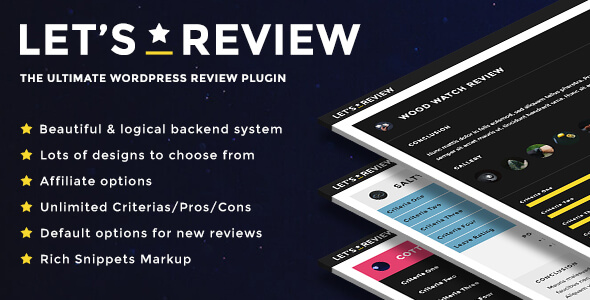 Download Let's Review | WordPress Review Plugin With Affiliate Options nulled download