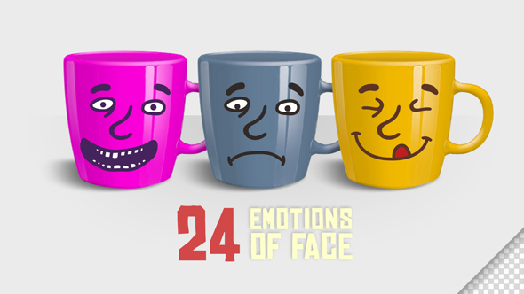 Tunteet Face (24 Smiles) - Cartoons Taustat Motion Graphics