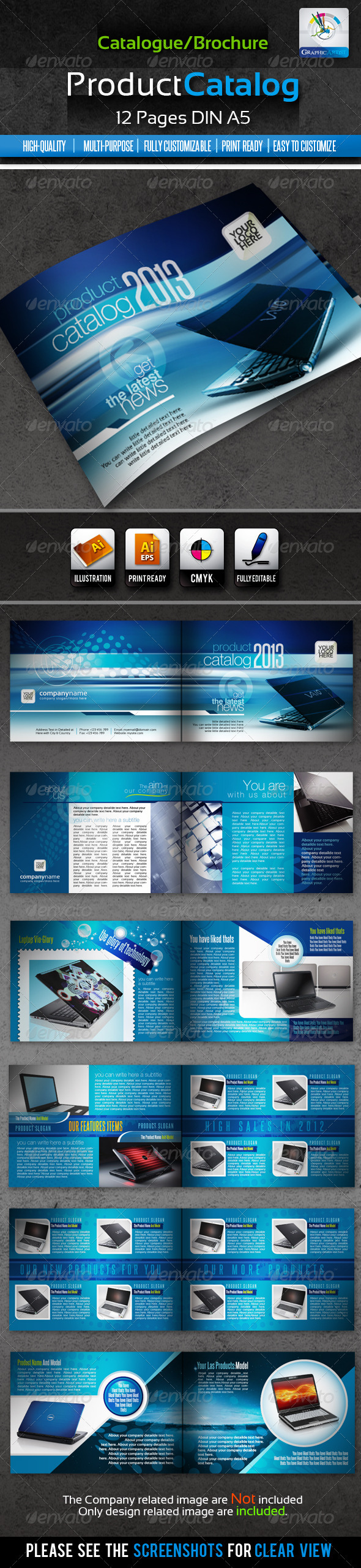Corporate Product Catalogue Brochure 12pages