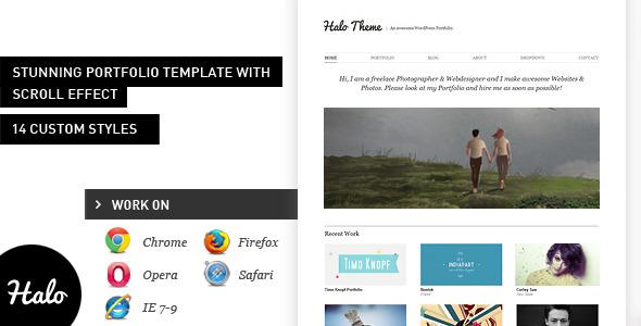 Halo: Stunning HTML Portfolio Theme