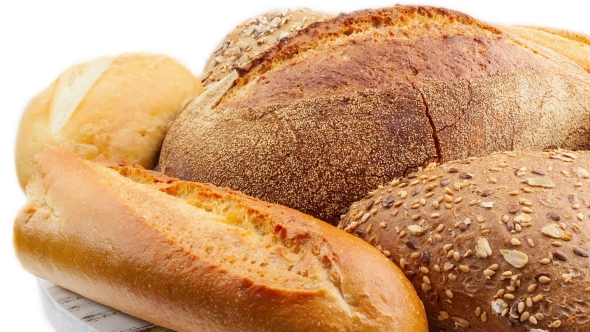 VideoHive Breads And Baked Goods Camera Pans Across Large Assortment In Video 15962587