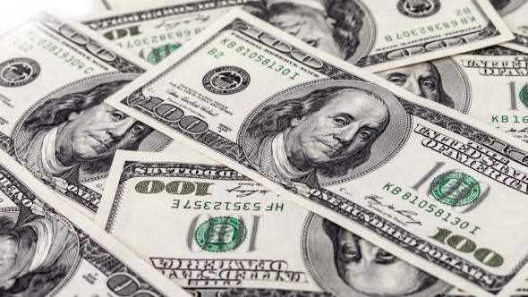 VideoHive 100 Dollar Bills Dolly Shot 15962606