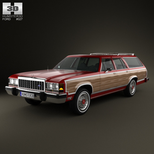 Ford Country Squire 1979-1991 - 3DOcean Item for Sale