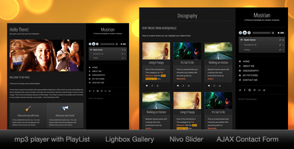 Musician - One Page HTML Template