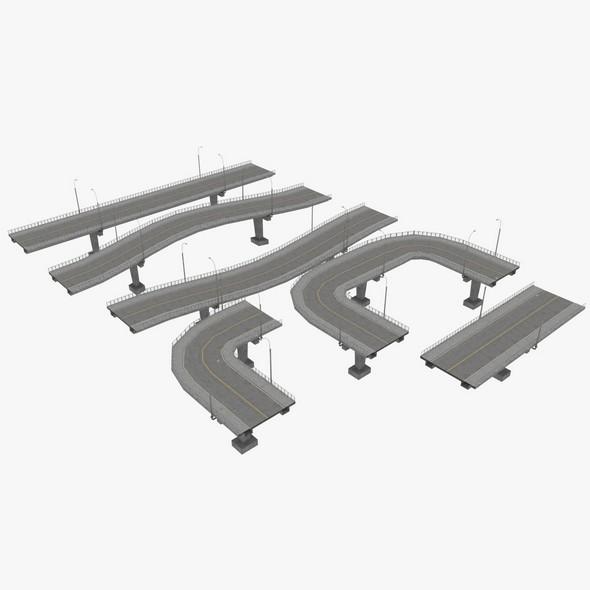 Bridge Construction Set - 3DOcean Item for Sale