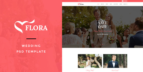 Flora : Wedding PSD Template
