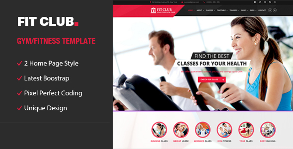 FitClub | Sports, Health, Gym & Fitness HTML Template
