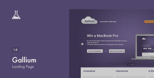 Download Gallium Landing Page nulled download