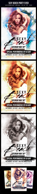 Sexy Beach Party Flyer